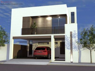 fachadas de casa pequeñas de dos pisos minimalista #modelosdecasasdedospisos #casasminimalistasfachadasde