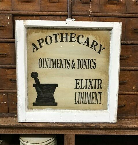 eBay #Sponsored Vintage Apothecary Sign Hand Paint…