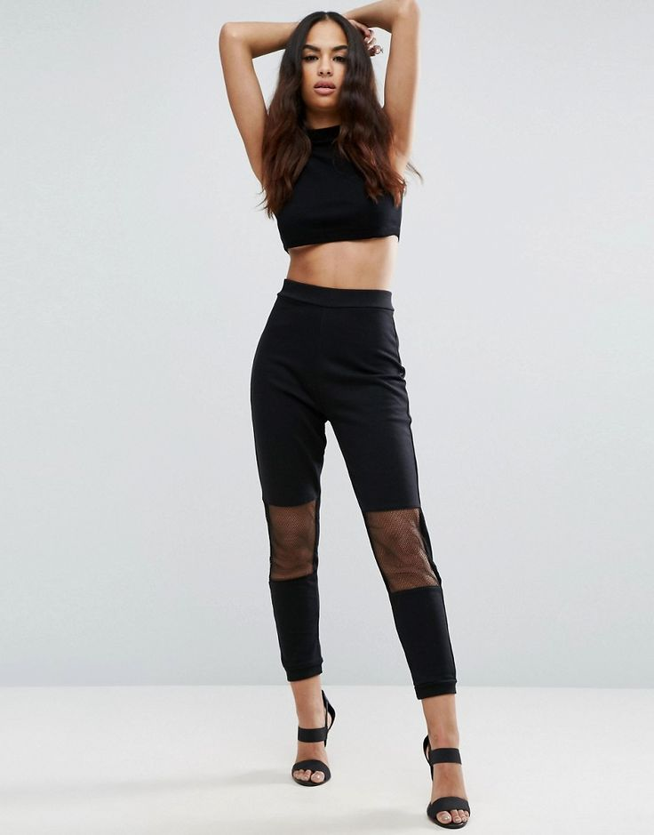 Buy it now. ASOS Joggers with Mesh Panels - Black. Joggers by ASOS Collection, Soft-touch sweat fabric, Stretch waistband, Mesh panel inserts, Tapered fit - cut loosely around the thigh and tapered from the knee to the ankle, Machine wash, 57% Polyester, 43% Cotton, Our model wears a UK 8/EU 36/US 4 and is 173cm/5'8 tall. ABOUT ASOS COLLECTION Score a wardrobe win no matter the dress code with our ASOS Collection own-label collection. From polished prom to the after party, our London-based…