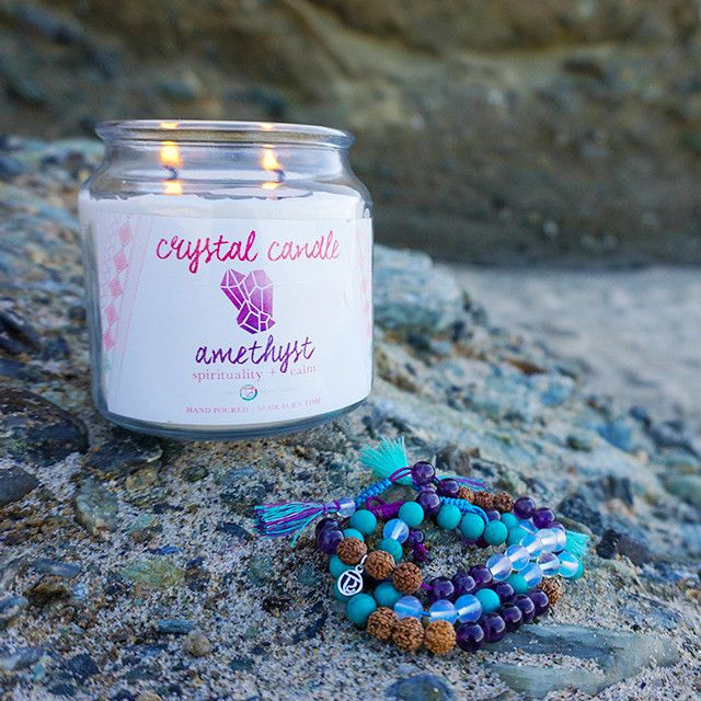 Amethyst Crystal Candle + Renewal Stack