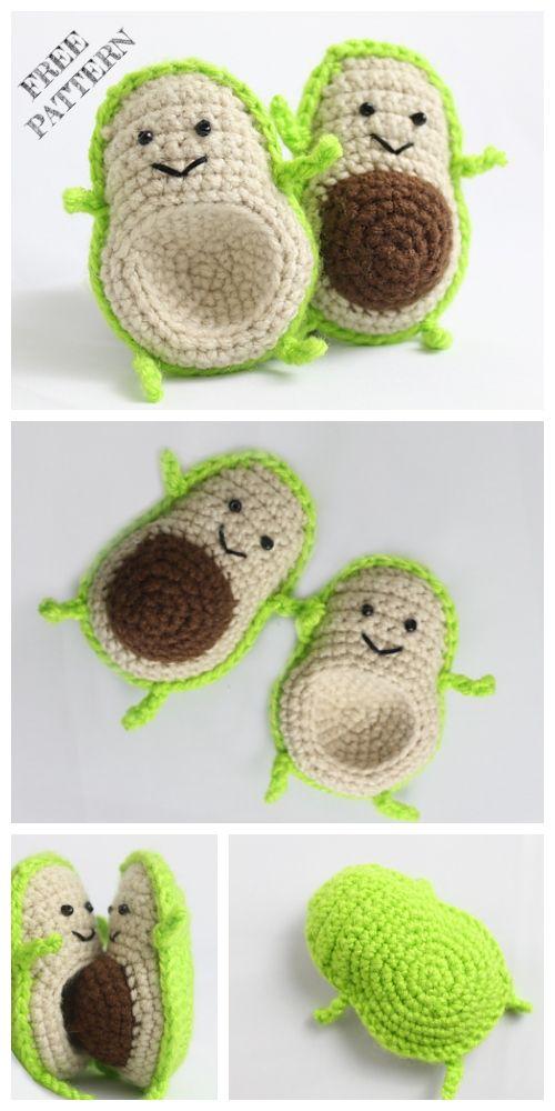Crochet Avocado Friend Anigurumi Free Patterns
