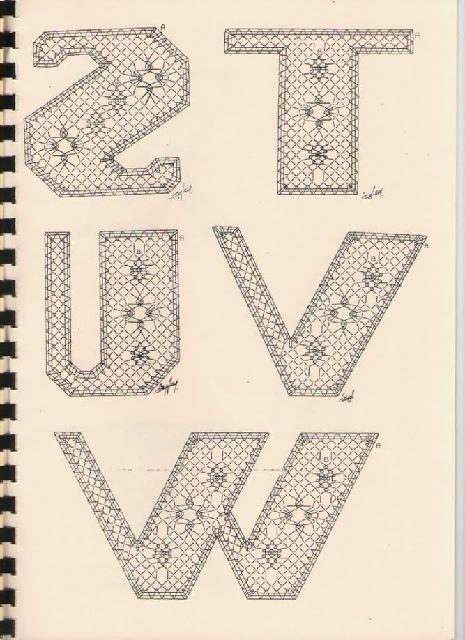 Alphabet S à W Torchon