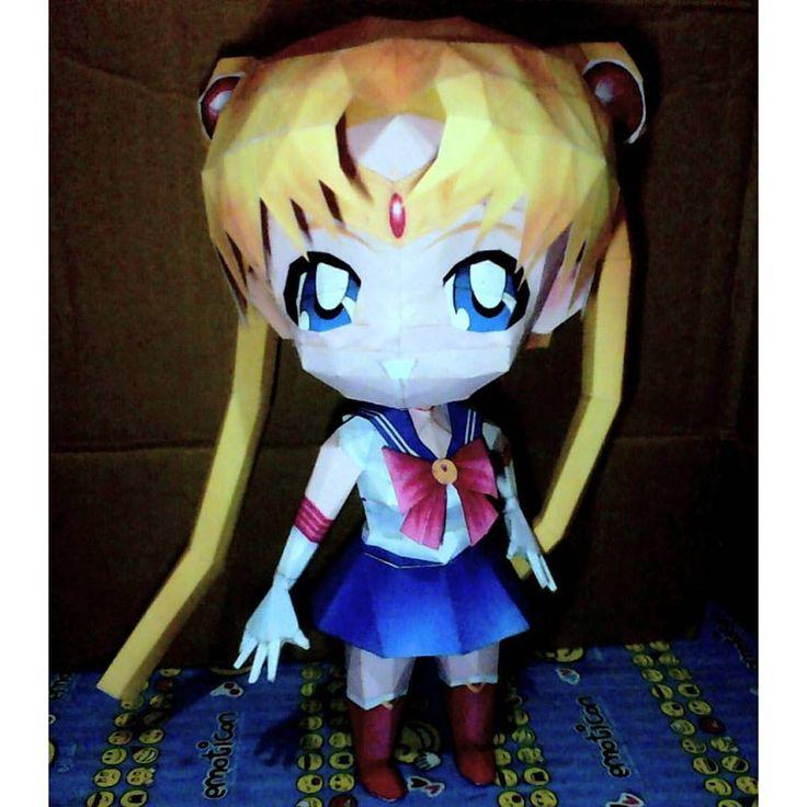 Usagi Tsukino, Sailor moon chiby (27cm / 10.8inc) . #actionfigure #creative #character #DIY #hobby #handmade #homemade #karton #kertas #kreasi #kreatif #kerajinan #kerajinankertas #kerajinantangan #paper #papercraft #papercuting #sailormoon #sailormoonchiby #usagitsukino