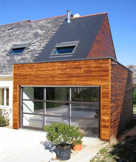 Extension bois maison - Extension en bois - Toiture en ardoise - Epicea   Agrandissement & Extension