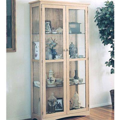 Craftsman Curio Cabinet Plan at Woodcraft. Something like this for yarn storage.