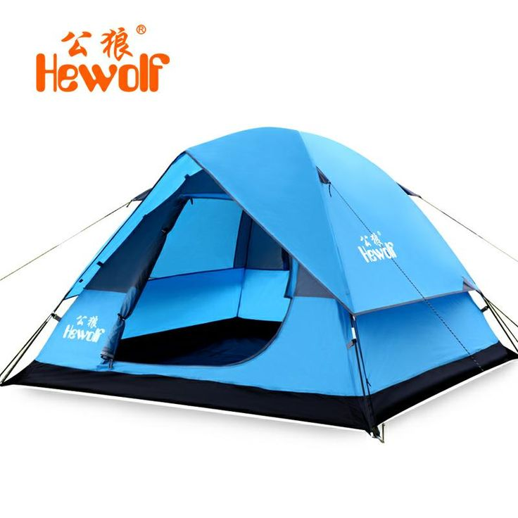 2017 NEW Outdoor lazy tents portable 3-4 person Double Layers Anti-UV fast folding waterproof beach camping hand throwing tents #Affiliate