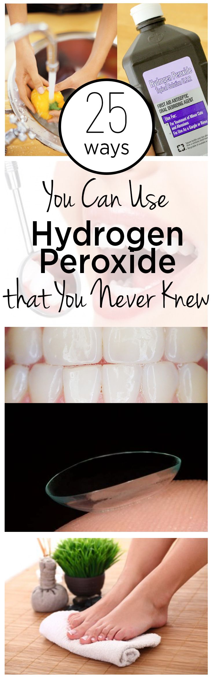 Hydrogen peroxide, how to use hydrogen peroxide, hydrogen peroxide hacks…
