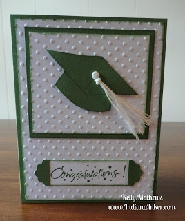 Graduation Card with a tassel made from embroidery floss