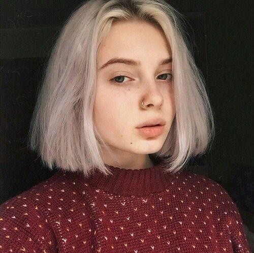 eyebrows, eyes, girl, grunge, hairstyle