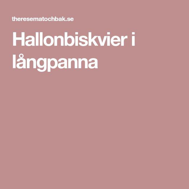 Hallonbiskvier i långpanna