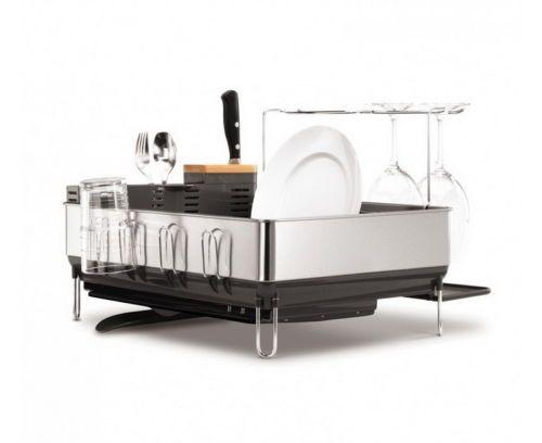 Stainless-Steel-Dish-Rack-Drain-Cup-Tray-Holder-Sink-Drain-Dry-Organizer-Kitchen