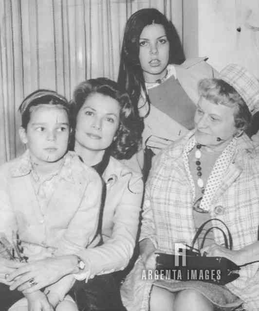 Princess Grace, Princess Stephanie, Princess Caroline, and Margaret Kelly.