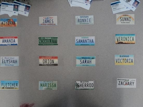Great name plates for desks.