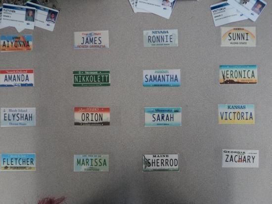 Great name plates for desks.