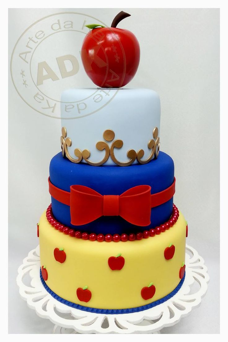 Snow White birthday cake. Idea for Snow White's tier in Isabella's 1st birthday cake