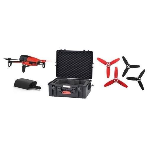Parrot BeBop Drone Quadcopter with 14MP Flight Camera, Capture 1080p Video, Red - Bundle with Bebop & SkyController Spare Battery, Spare Bebop Drone Propellers Red, Hard Case with Foam - http://www.midronepro.com/producto/parrot-bebop-drone-quadcopter-with-14mp-flight-camera-capture-1080p-video-red-bundle-with-bebop-skycontroller-spare-battery-spare-bebop-drone-propellers-red-hard-case-with-foam/