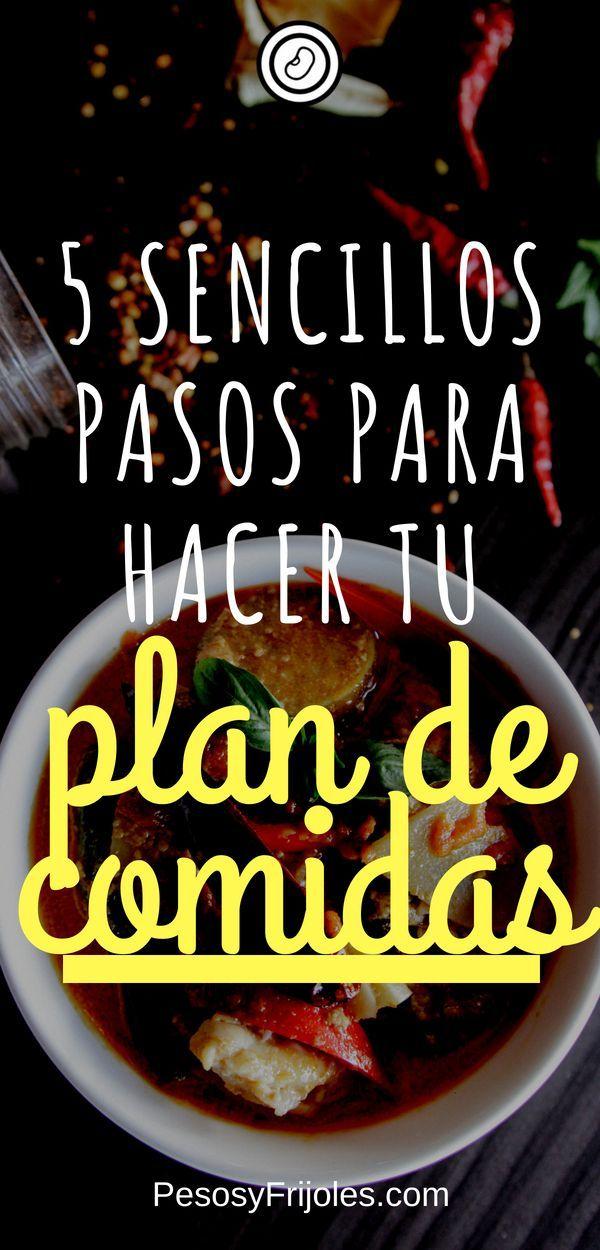 5 Sencillos Pasos Para Hacer Tu Plan De Comidas Plan De Comida Que Hacer De Comer Que Hacer De Comer Hoy