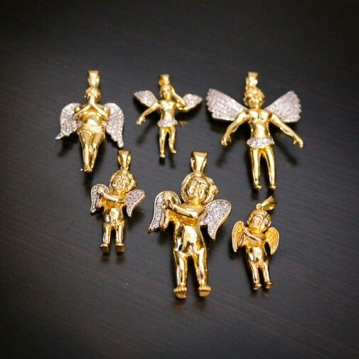 Angels from our mens jewelry site JewelryFresh.com. small sized pieces perfect for women as well!