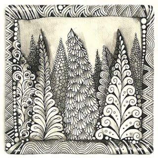 Enthusiastic Artist: ZIA Ideas: Coniferous trees