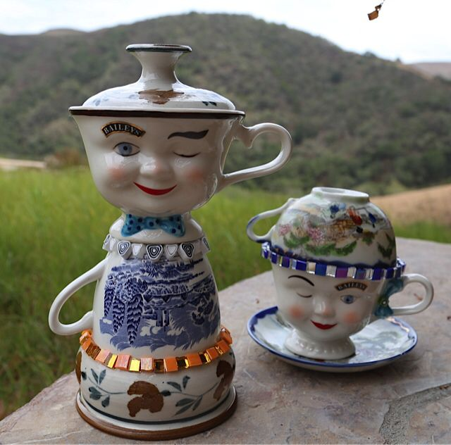 Teacup people mosaic