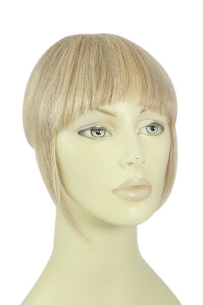 Clip in /on Remy Human Hair Fringe / Bangs Lightest Brown/Bleach Blonde Mix (#18/613)