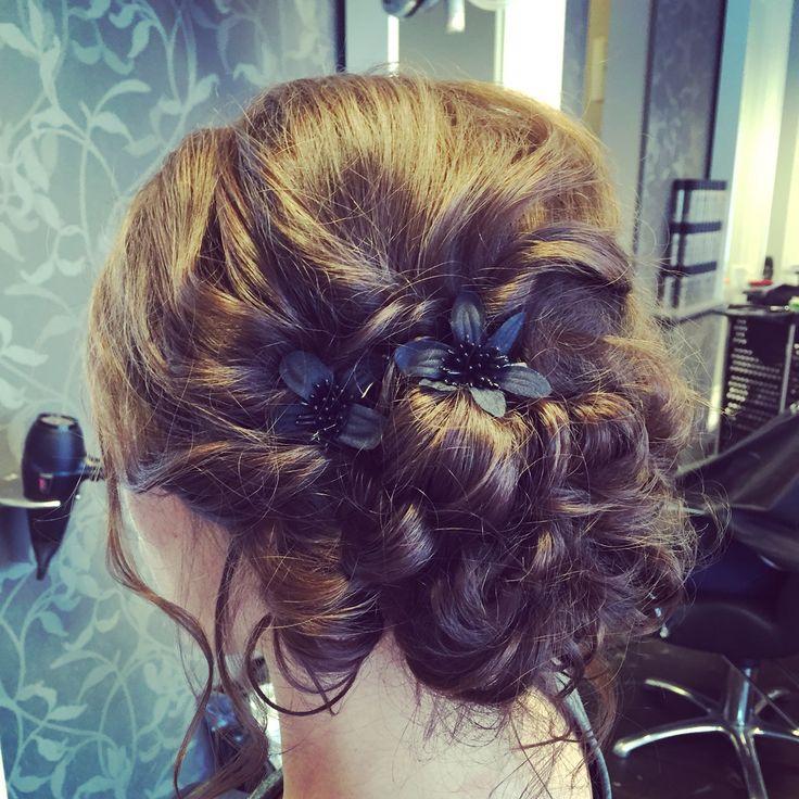 #updo #flower #hair