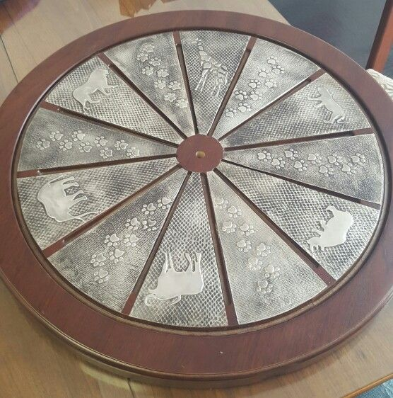 Wall clock done by Grace at Pewter Boutique.
