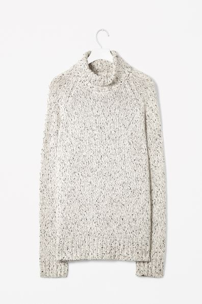 COS speckled roll neck men's jumper
