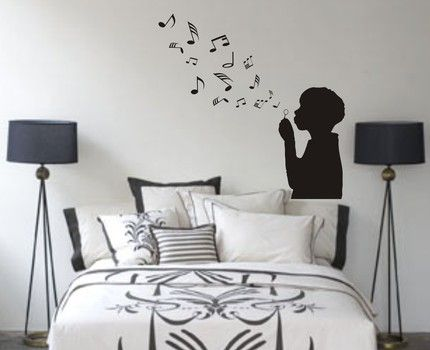 so cute. would be a fun addition on a play room wall. Music themed room