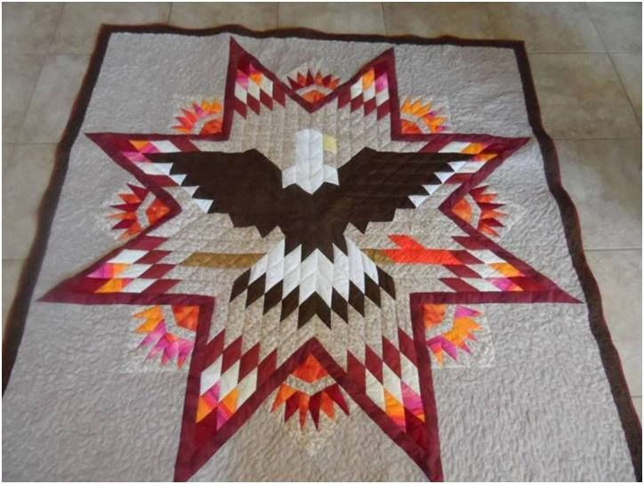 Lone Star Eagle Southwestern With Paper Piecing Between