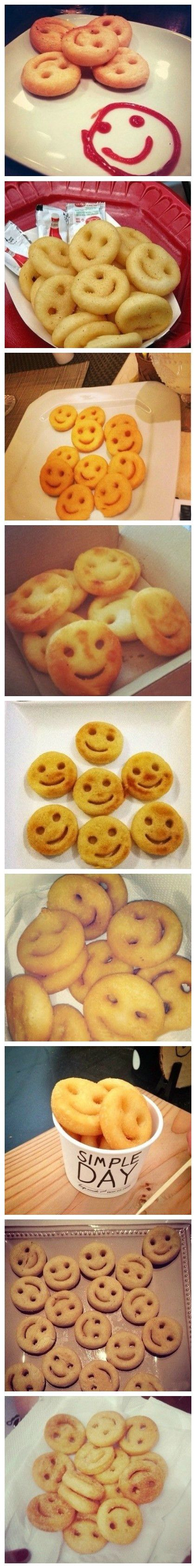 Homemade potato smiles|potato smiley