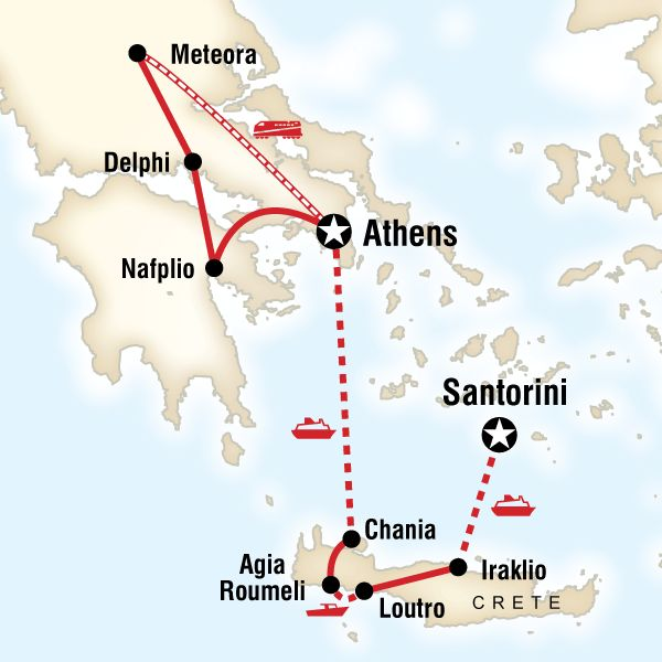 "15 day ""Best of Greece"" tour from Lonely Planet (good for milking itinerary ideas)"