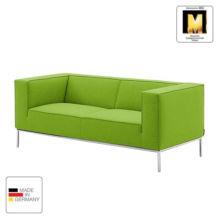 Sofa Greg (2-Sitzer) - Webstoff - Grün - Ohne Kissen ...
