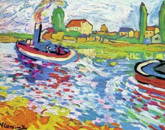 Maurice De Vlaminck, Le remorqueur sur la Seine