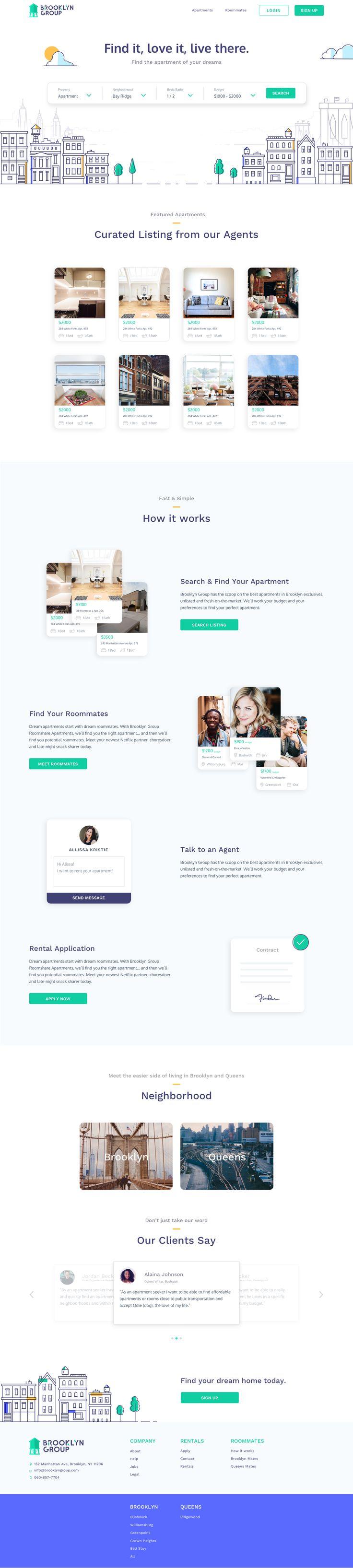Apartment Rental Website | #ui #ux #userexperience #website #webdesign #design #minimal #minimalism #art #white #orange #blue #travel #map #ecommerce #fashion