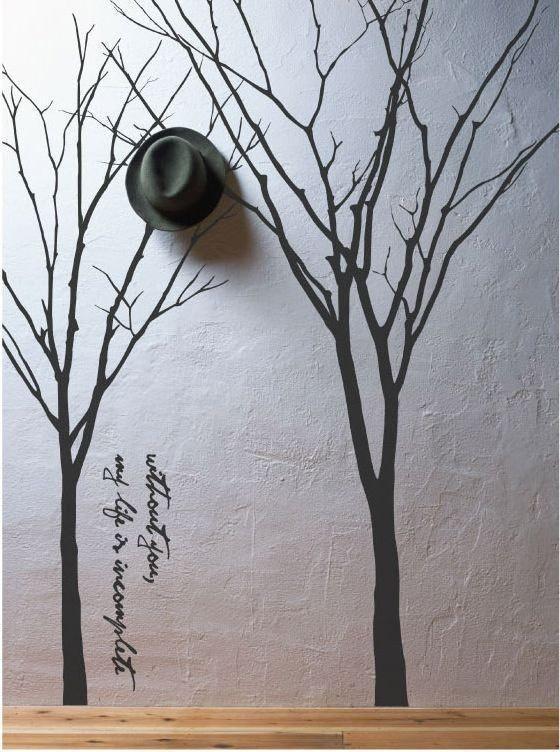 mmm: Wall Art, Vinyls Decals, Coats Racks, Paintings Trees, Winter Trees, Trees Decals, Vinyls Wall Decals, Wall Stickers, Trees Wall Decals
