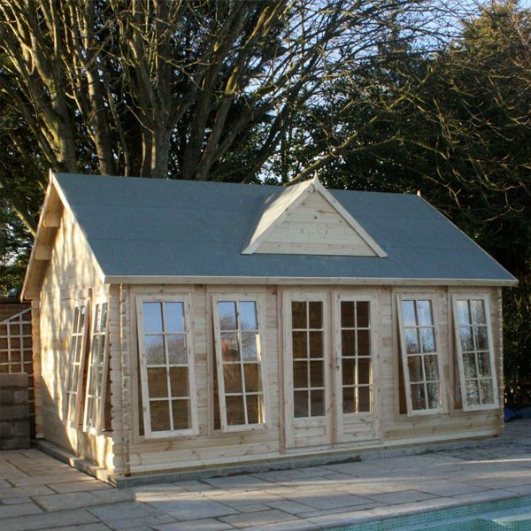 Adley 3 8m X 5 3m Abbey Log Cabin Cabin Log Cabin Luxury Cabin