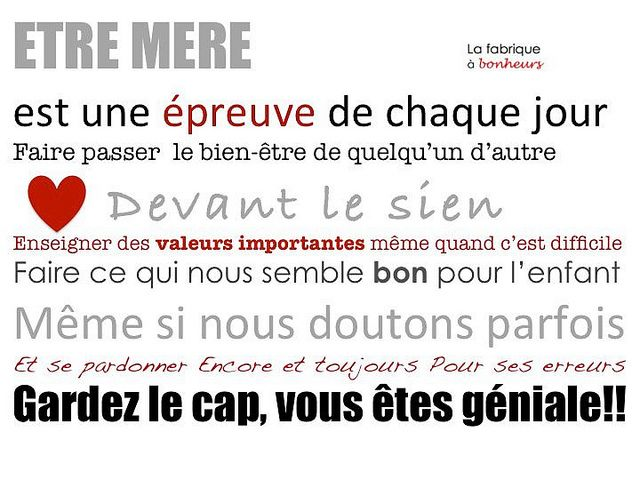 Tenons bon, nous sommes Magnifiques!!! etre mere by La Fabrique à Bonheurs, via Flickr ...