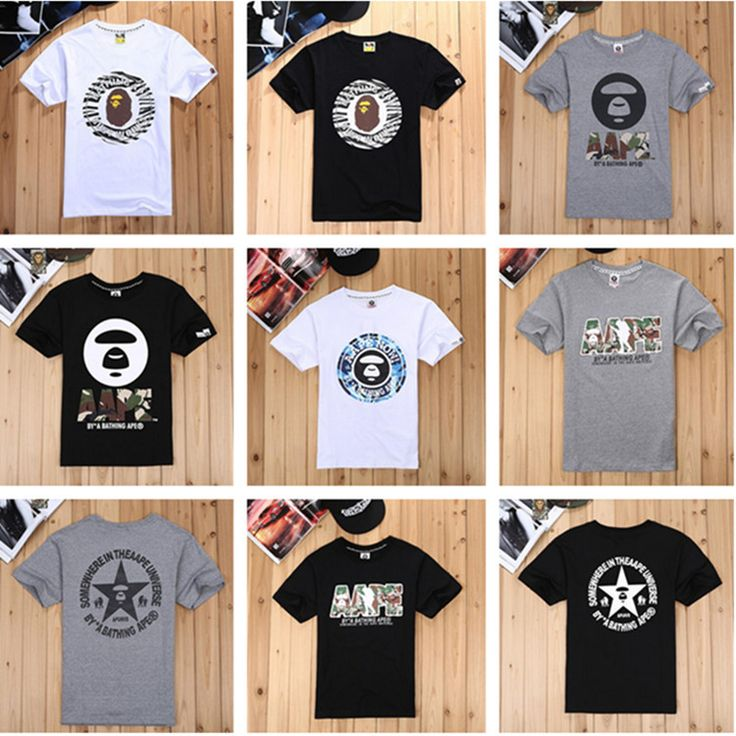 Find More T-Shirts Information about 2014 aape bape pattern o neck casual t shirt male short sleeve ,Men's t shirt ,size M ,L, XL,High Quality T-Shirts from Shenzhen Smile Trade Electronic Co. Ltd. on Aliexpress.com