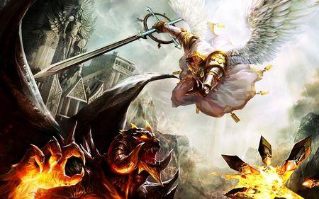 angels and demons battle art - photo #11