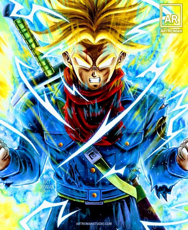 Trunks Super Saiyan Dragon Ball Z Dragon Ball Super Manga Dragon Ball Painting Dragon Ball Super Art