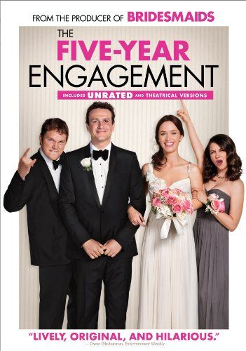 "The Five-Year Engagement | very good! ""we're not even 90% right for each other. Not even 60%. But (s)he's the love of my life."" Thoroughly enjoyed it."
