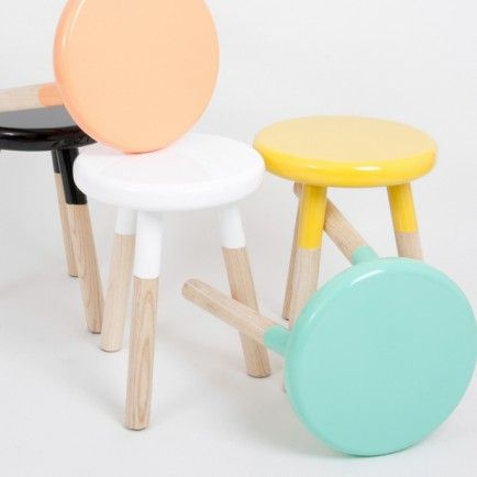 Paint Dipped Stool (mint)