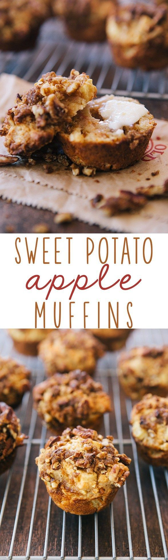 Sweet Potato Apple Muffins from @somethewiser