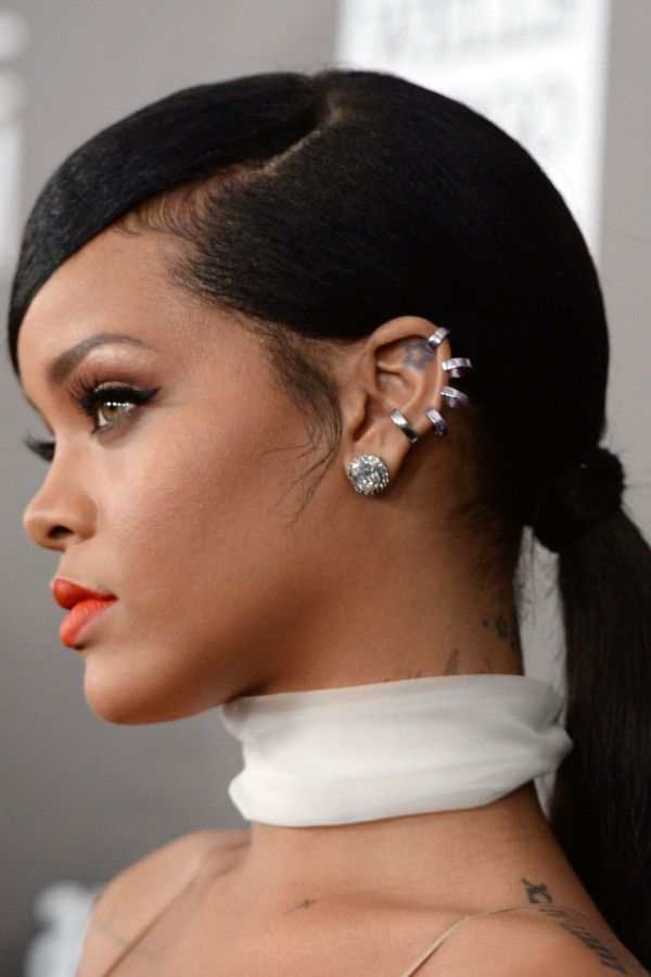 Mcx New Takes On The Pony Rihanna Side ponytail hairstyles Black ponytail hairstyles Sleek