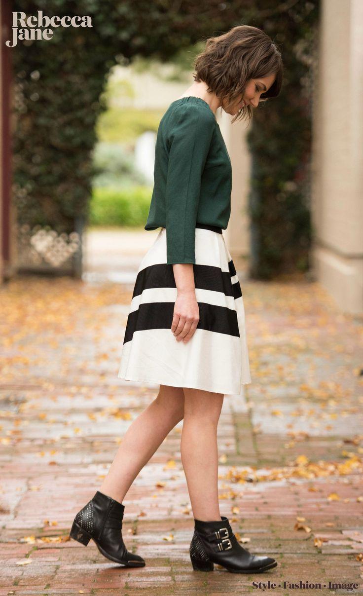 autumn days, monochrome skirt, ankle boots