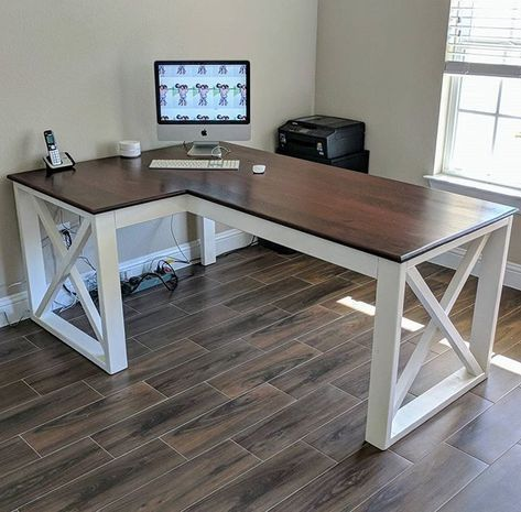 "[ad_1]  ""The X Desk"" ….. # createwithmycreator #woodworking # woodwork # carpentry #smashingdiy #diy"