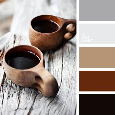 beige, color café, color marrón rojizo, color negro madera, gris, gris claro, gris oscuro, gris plata, gris y marrón rojizo, marrón, negro, selección de colores, tonos grises.