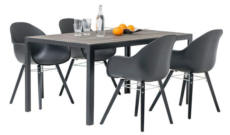 Narbonne & Malaga ruokaryhmä 1+4 (musta) / Kesäkalusteet / Tuotteet / Maskun Kalustetalo