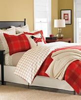 Martha Stewart Collection Bedding, Lehigh Square Flannel Duvet Cover